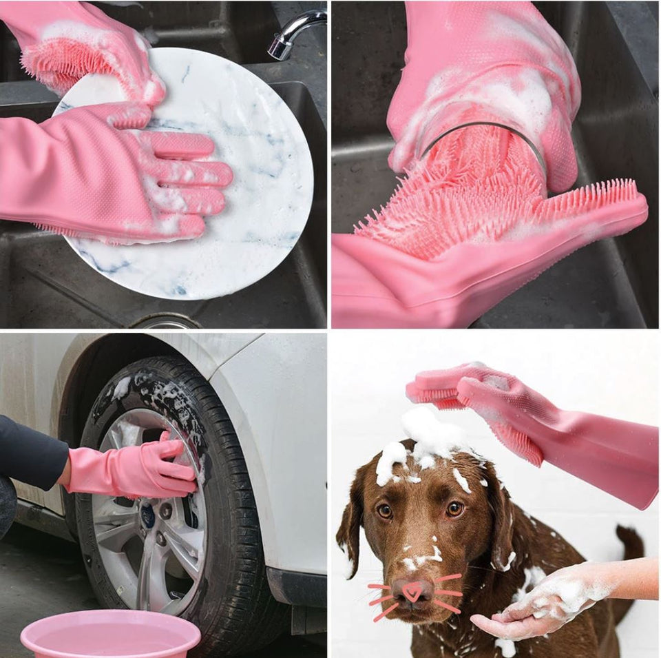 Magic Silicone Dishwashing Gloves Kitchen Gloves Today Panda