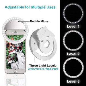 Selfie Portable Flash Led Photography Ring for iPhone amziing products Today Panda