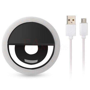 Selfie Portable Flash Led Photography Ring for iPhone amziing products Today Panda Black