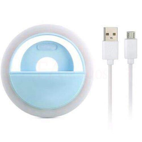 Selfie Portable Flash Led Photography Ring for iPhone amziing products Today Panda Blue