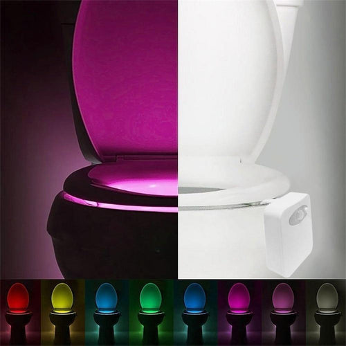 Smart LED Bathroom Toilet Night Light With 8 Color - Automatic Sensor Seat Light Home Accessories Today Panda