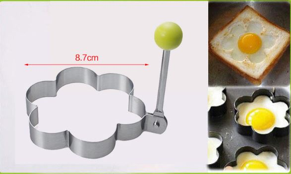 Stainless Steel Fried Egg Mold Pancake Bread Fruit and Vegetable Shape kitchen Accessories Today Panda Flower