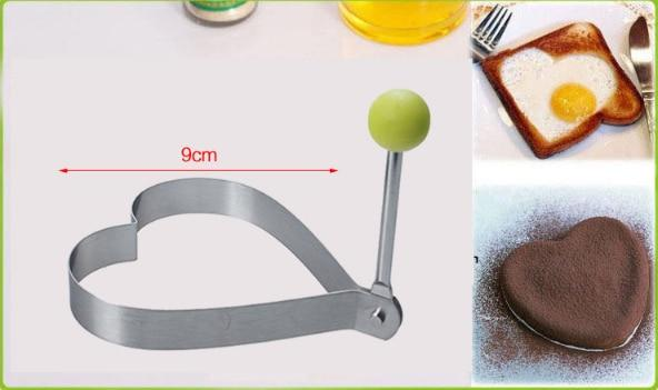 Stainless Steel Fried Egg Mold Pancake Bread Fruit and Vegetable Shape kitchen Accessories Today Panda Heart