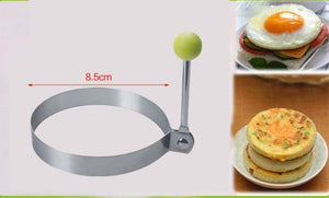 Stainless Steel Fried Egg Mold Pancake Bread Fruit and Vegetable Shape kitchen Accessories Today Panda Round