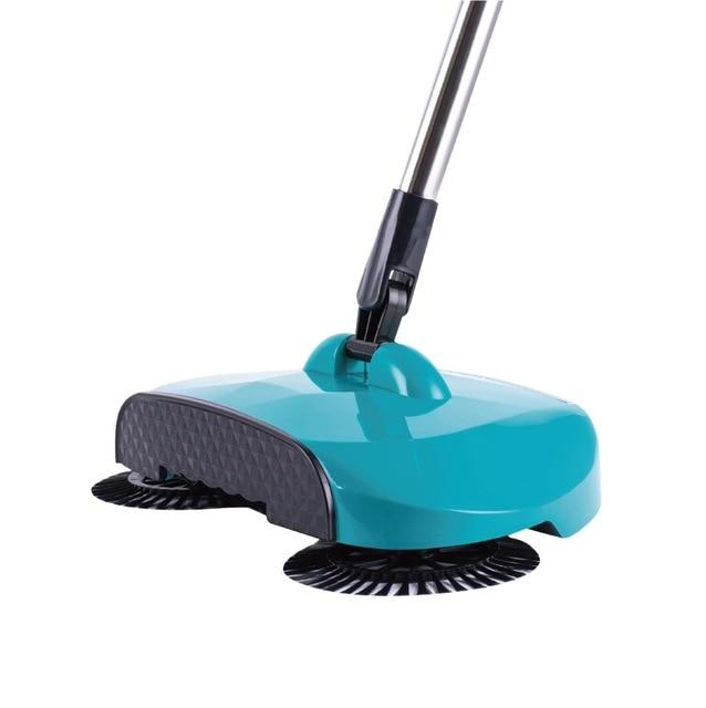 Stainless Steel Sweeping Machine - Magic Hand Push Sweeper Today Panda Green