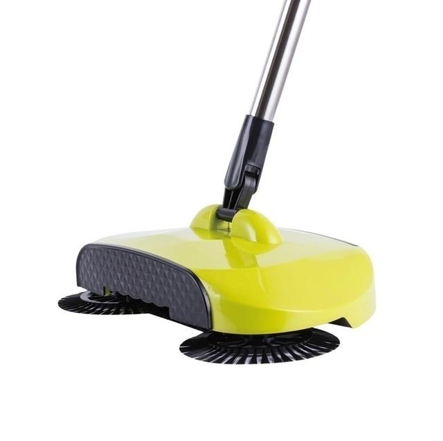 Stainless Steel Sweeping Machine - Magic Hand Push Sweeper Today Panda Light Yellow
