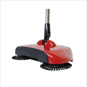 Stainless Steel Sweeping Machine - Magic Hand Push Sweeper Today Panda Red