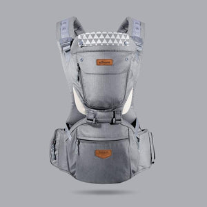 SUNVENO Front Facing Ergonomic Baby Carrier Infant Baby Hipseat Waist Carrier Baby Care Today Panda general gray China