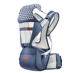 SUNVENO Front Facing Ergonomic Baby Carrier Infant Baby Hipseat Waist Carrier Baby Care Today Panda mesh blue China