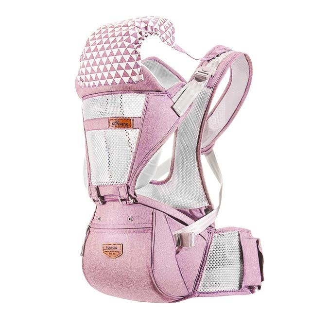 SUNVENO Front Facing Ergonomic Baby Carrier Infant Baby Hipseat Waist Carrier Baby Care Today Panda mesh pink Russian Federation