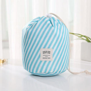 Travel Cosmetic Bag Makeup Bag Today Panda Blue stripes