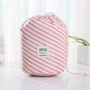 Travel Cosmetic Bag Makeup Bag Today Panda Pink stripe