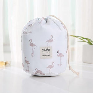 Travel Cosmetic Bag Makeup Bag Today Panda White flamingos