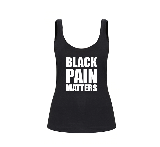 BLACK PAIN MATTERS TANK TOP