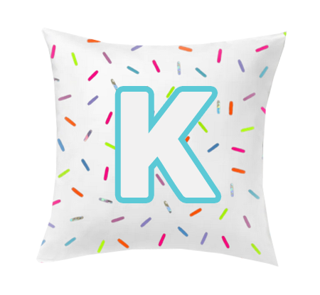 INITIAL SPRINKLES CUSHION