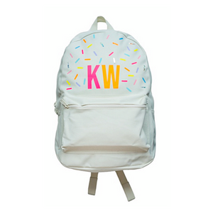 LARGE INITIALS BACKPACK