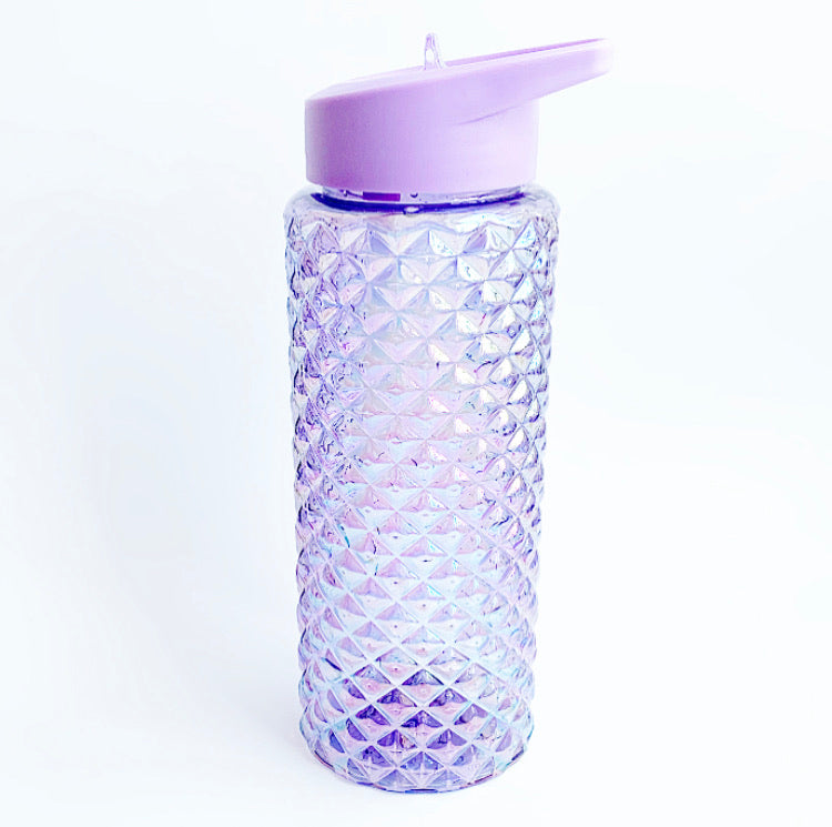 PURPLE IRIDESCENT WATER BOTTLE