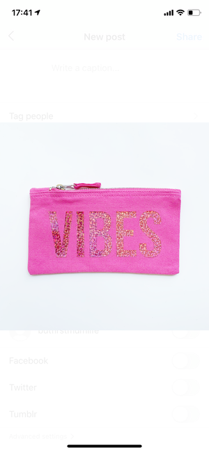 VIBES MINI ZIP POUCH