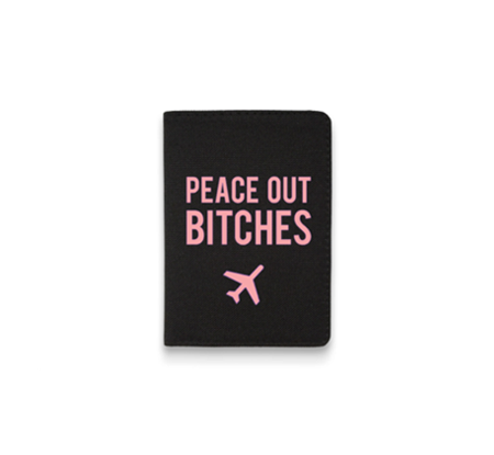 PEACE OUT PASSPORT HOLDER