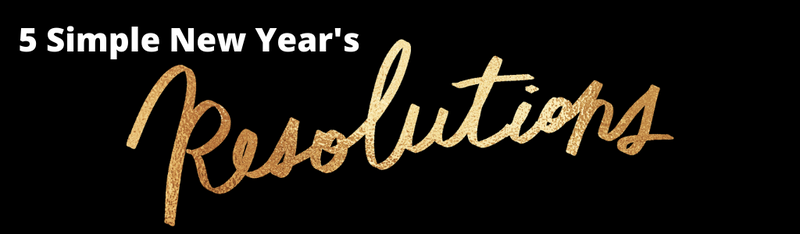 New Year's Resolutions gold font