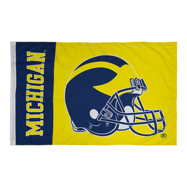 3' x 5' Football Helmet UM Flag