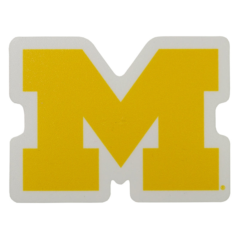 UM Block M White Outline Decal