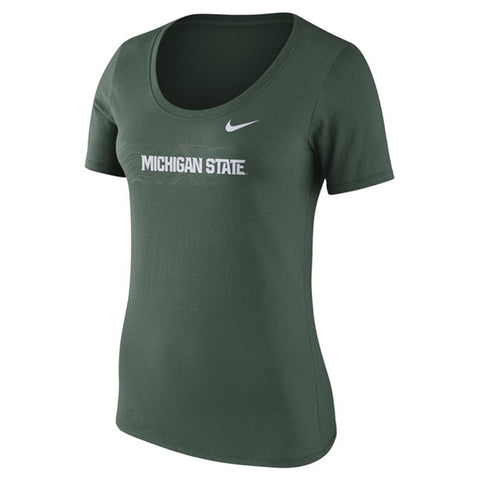 Ladies Scoop Sideline MSU T-Shirt