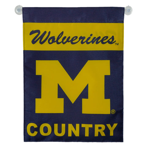 UM Woverine Country Garden Flag
