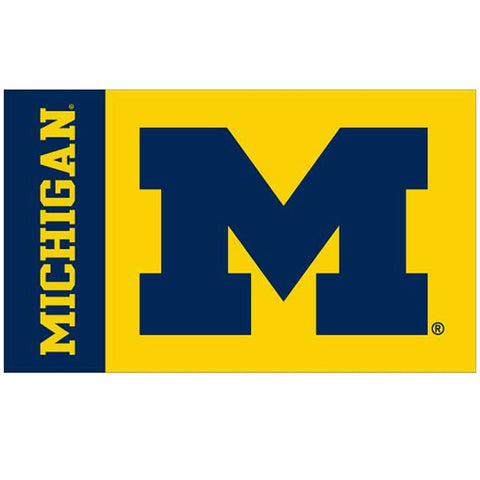 3' x 5' Michigan/Block 'M' UM Flag
