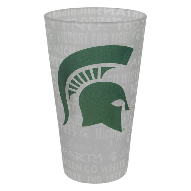 Frosted Sublimation MSU Pint Glass