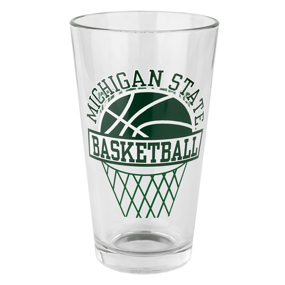 MSU Basketball Pint Glass