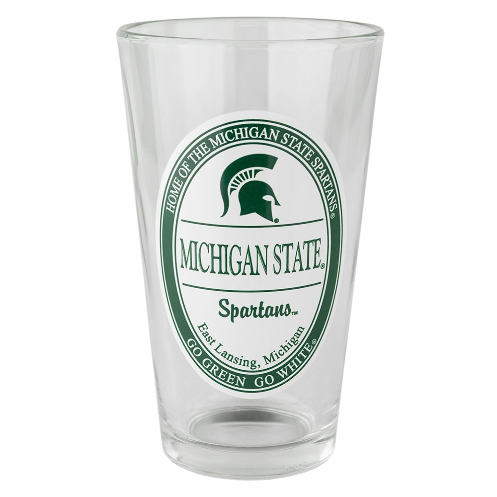 MSU Vintage Oval Pint Glass