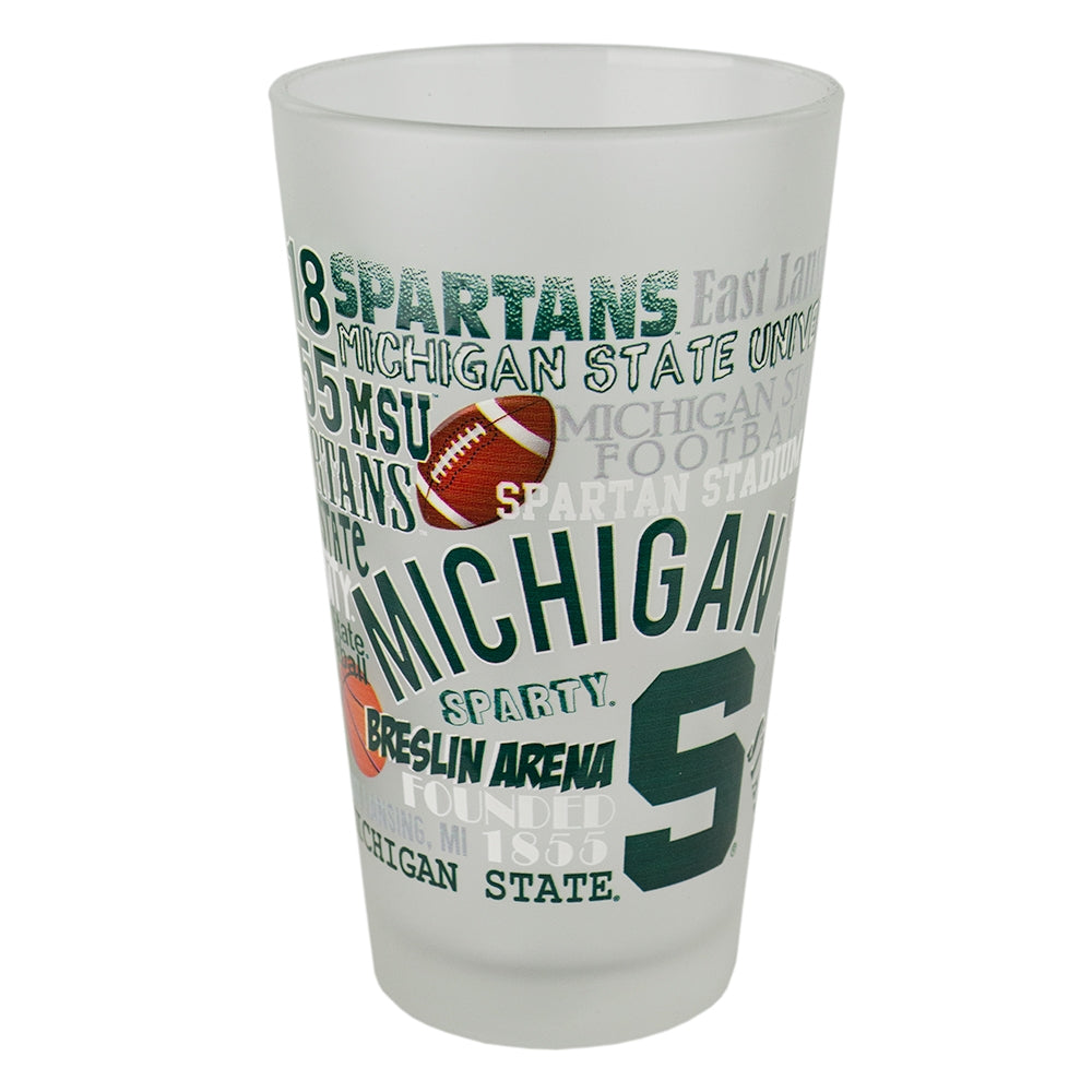 MSU Campus Wrap Pint Glass