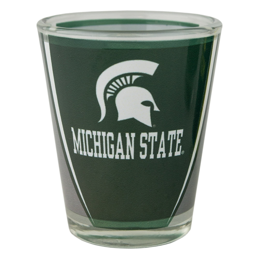 MSU Spartan Head Over Michigan State Shot Glass