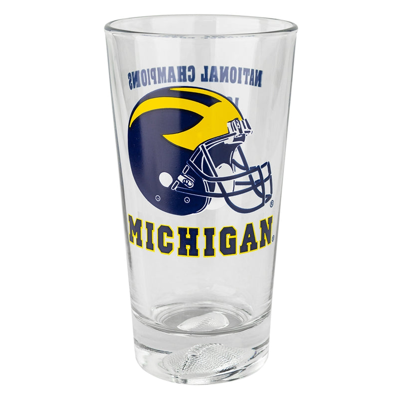 UM Football National Champ Years Pint Glass