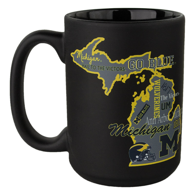 UM State Of Michigan Phrases Mug