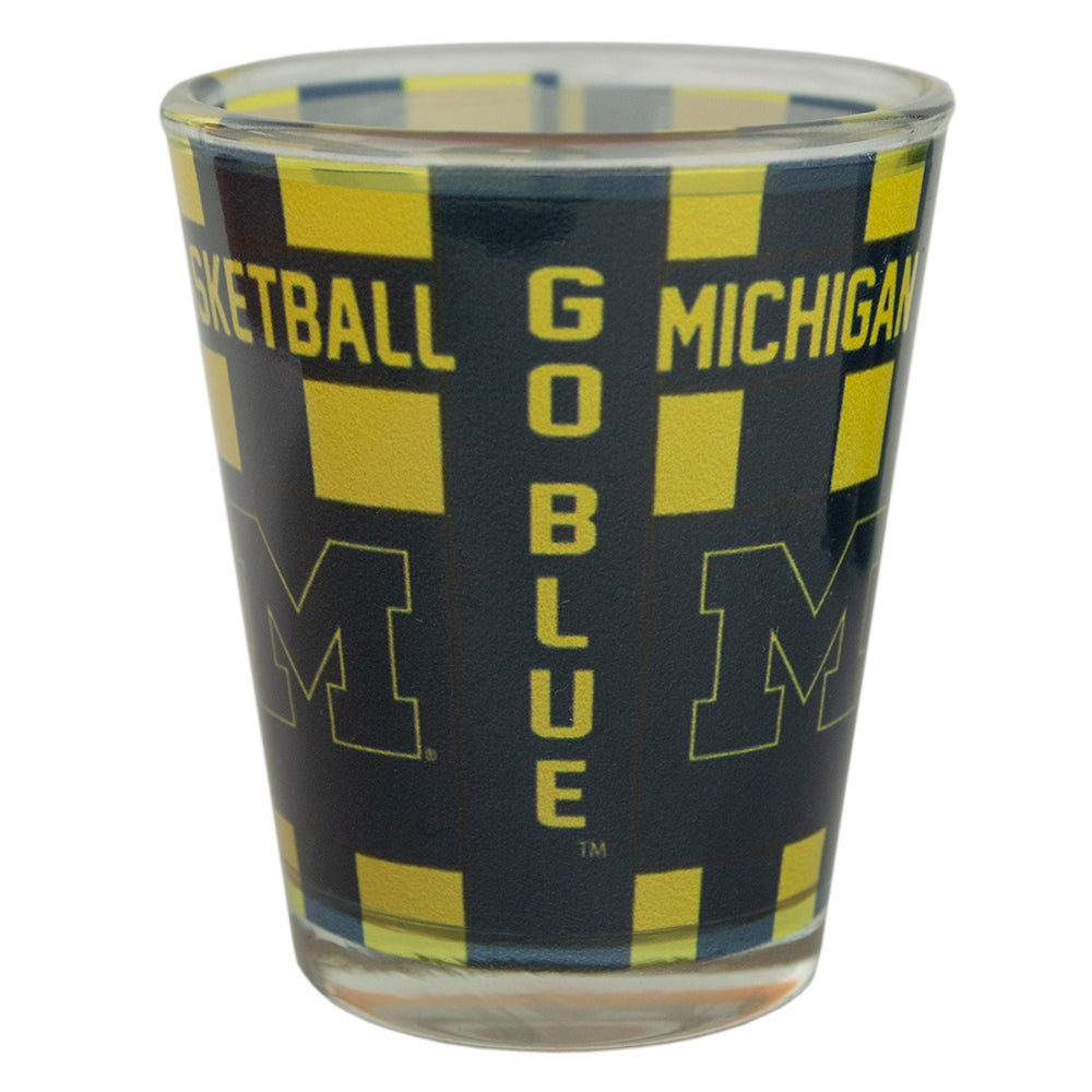 UM Basketball Theme Shot Glass