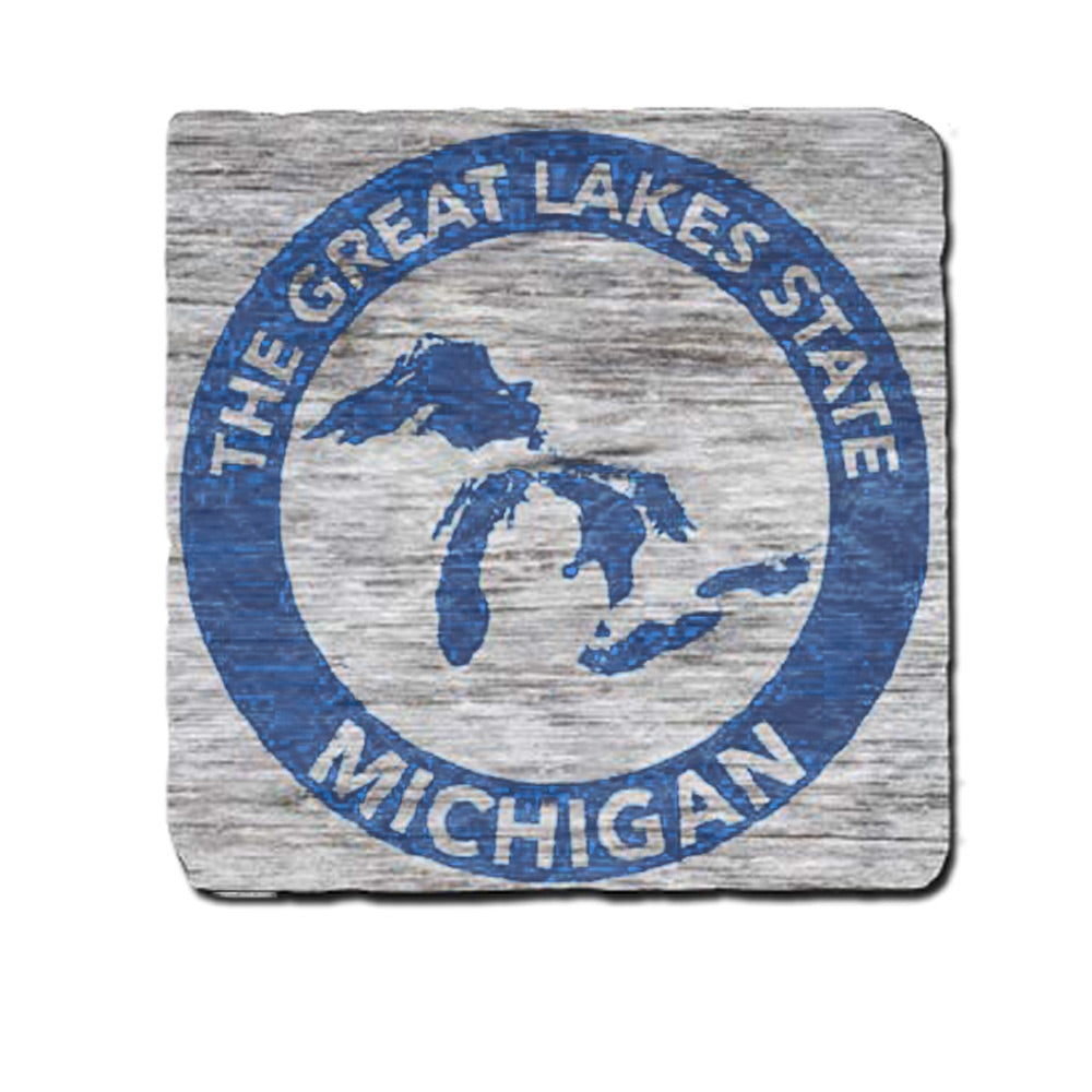 GR8ST8 Circle Michigan Coaster