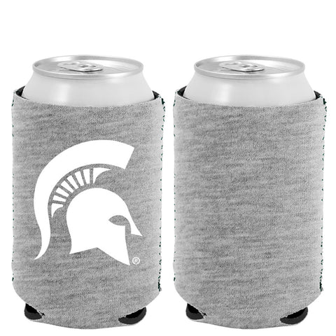 MSU Heather Grey Can Cooler