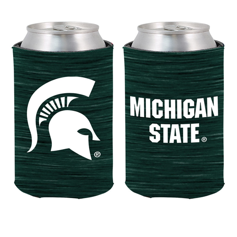 MSU Heather Green Can Cooler
