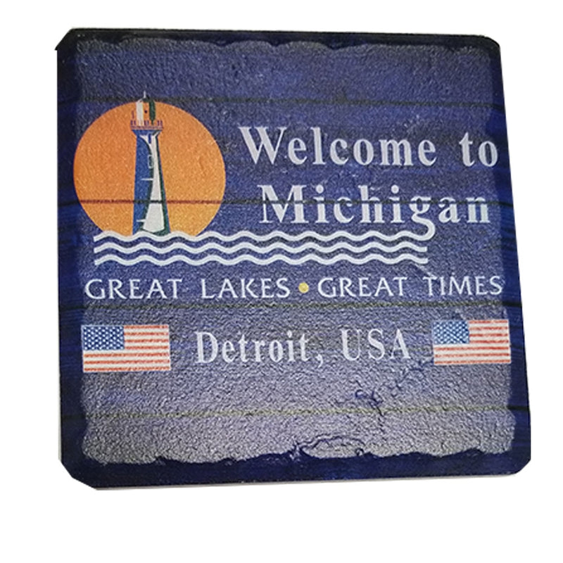 GR8ST8 Welcome To Michigan Coaster