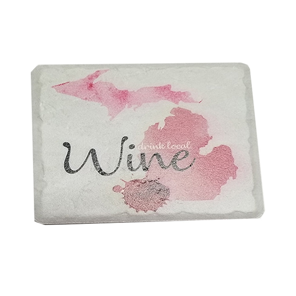 GR8ST8 Drink Local Wine Coaster