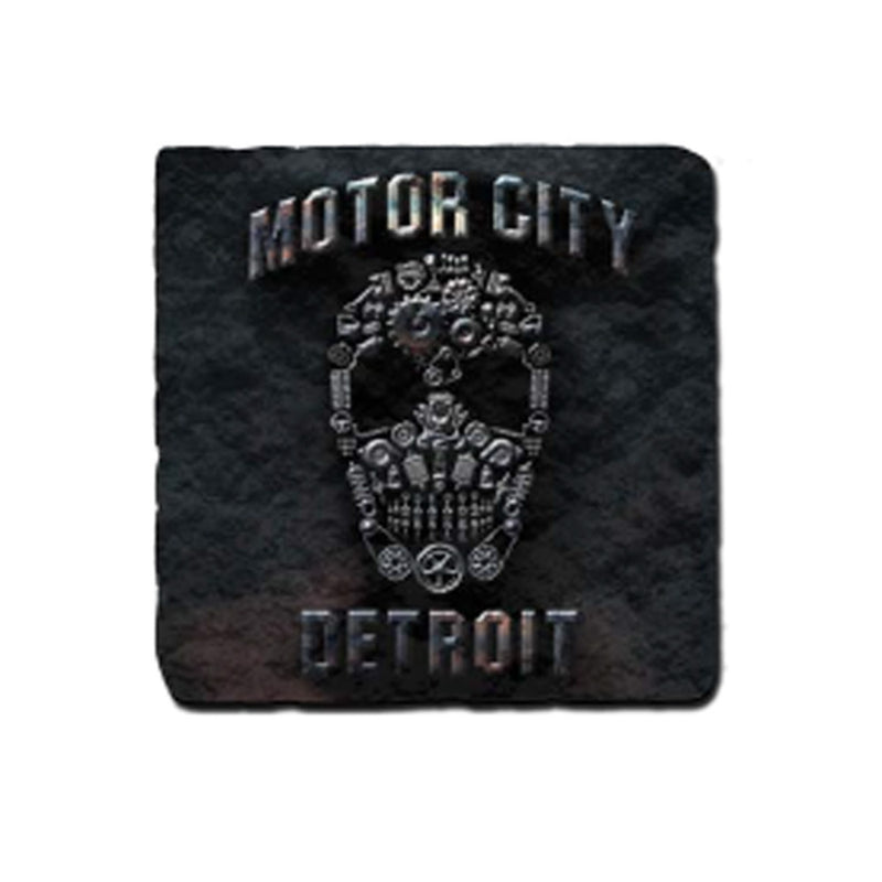 GR8ST8 Motor City Skull Coaster