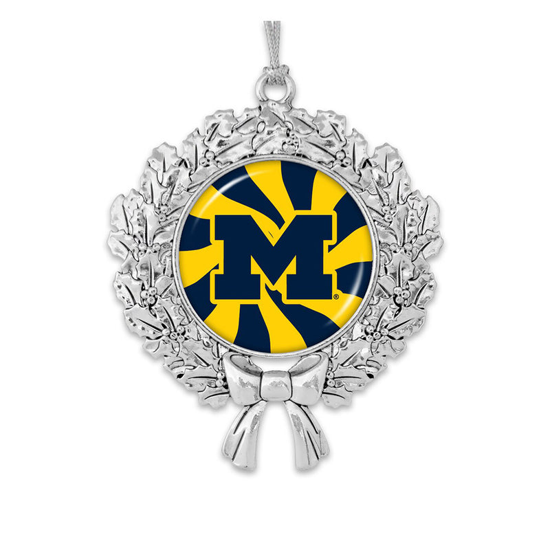 UM Snow Wreath Ornament