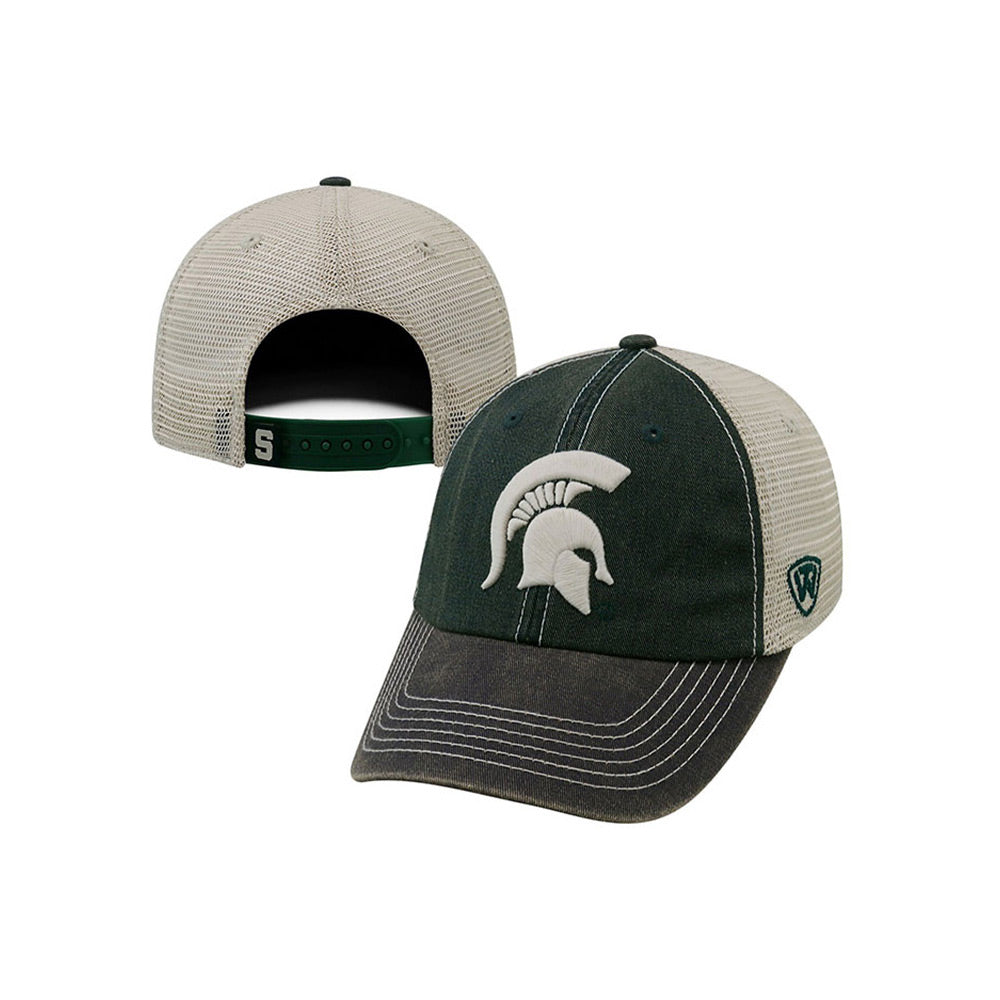 MSU 3 Tone Spartan Head Adjustable Hat