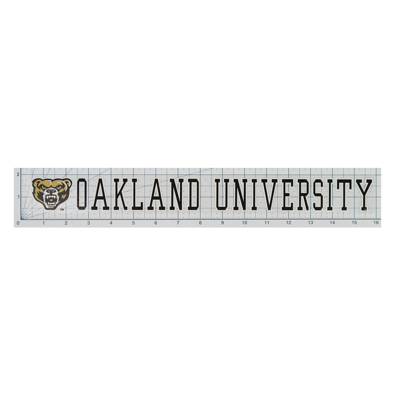 Oakland Univeristy Strip Decal
