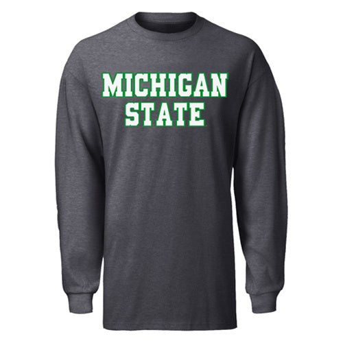Blocky 2 Color MSU B2T Long Sleeve T-Shirt