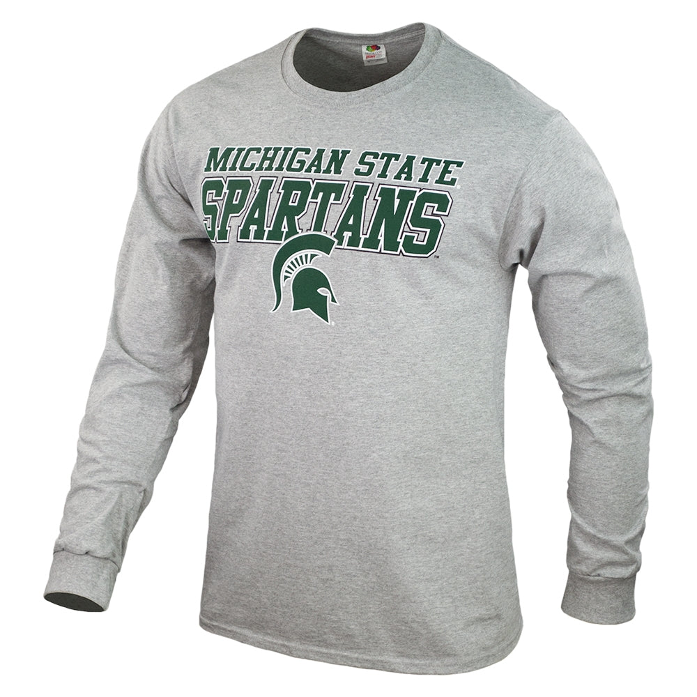 Italic Block Letter MSU IBL Long Sleeve T-Shirt