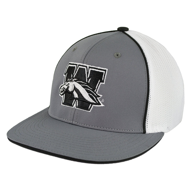 WMU Flat Bill Mesh Flex Fit Hat
