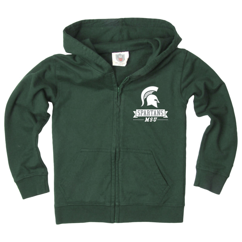 Spartan Head MSU Youth Full-Zip Hoodie